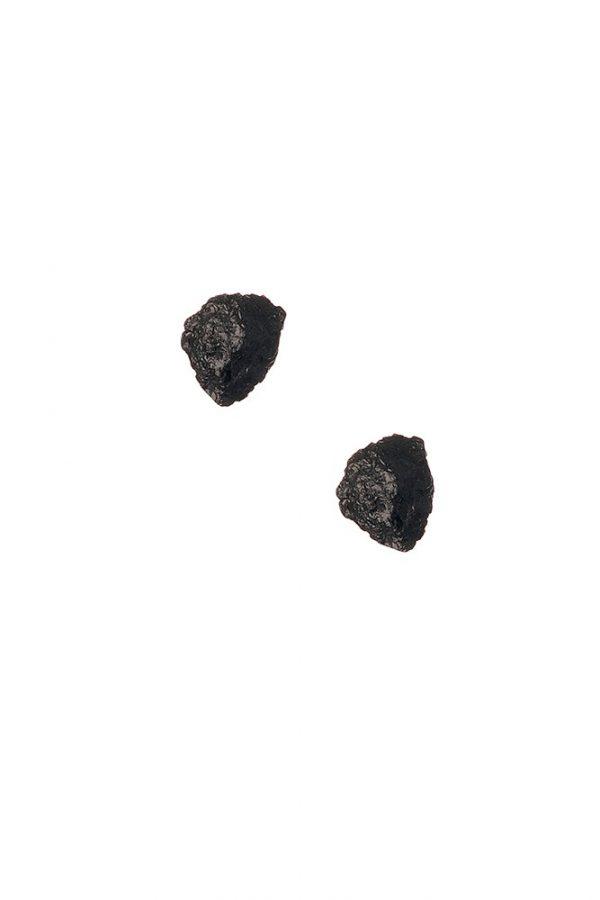 Brinco Detalhes em Turmalina Negra - Plume Acessórios