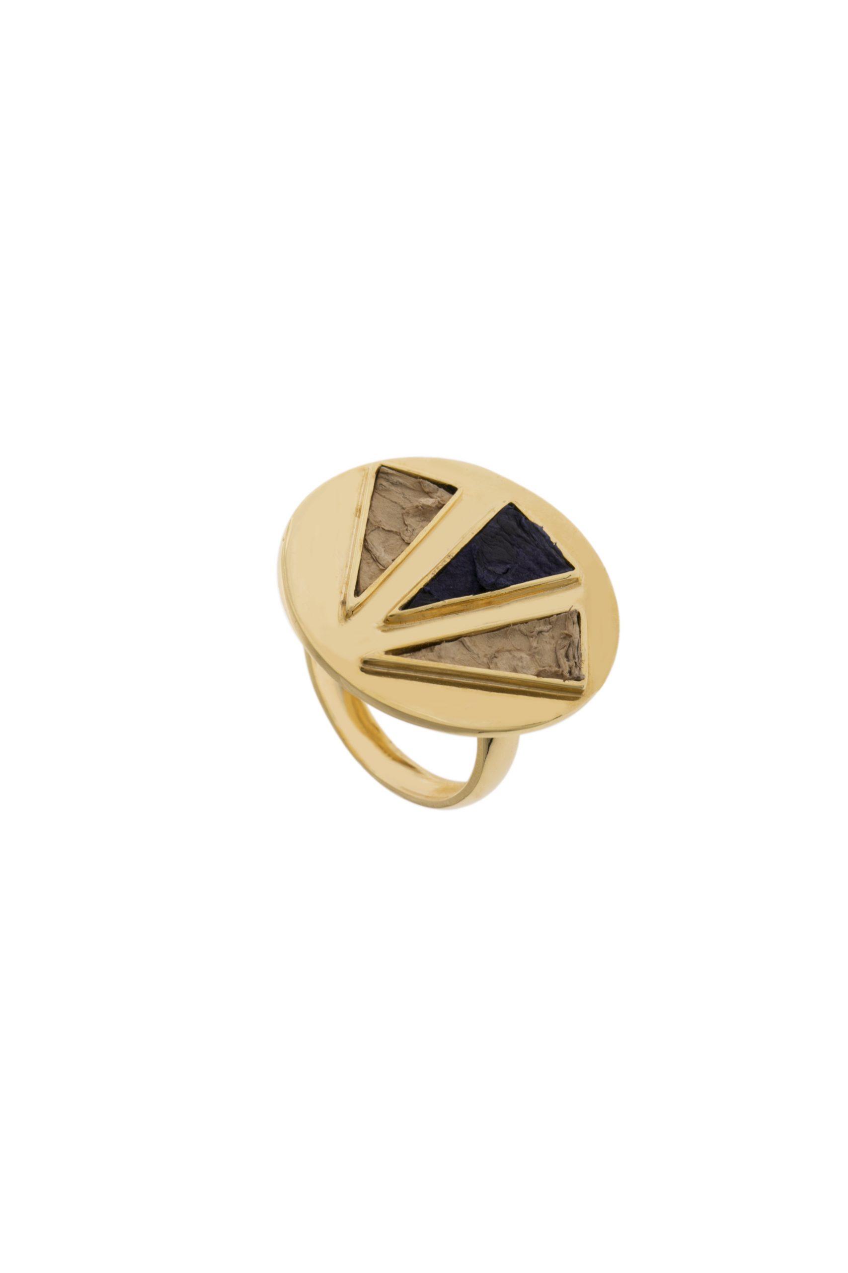 anel 3 marias (couro de tilápia)