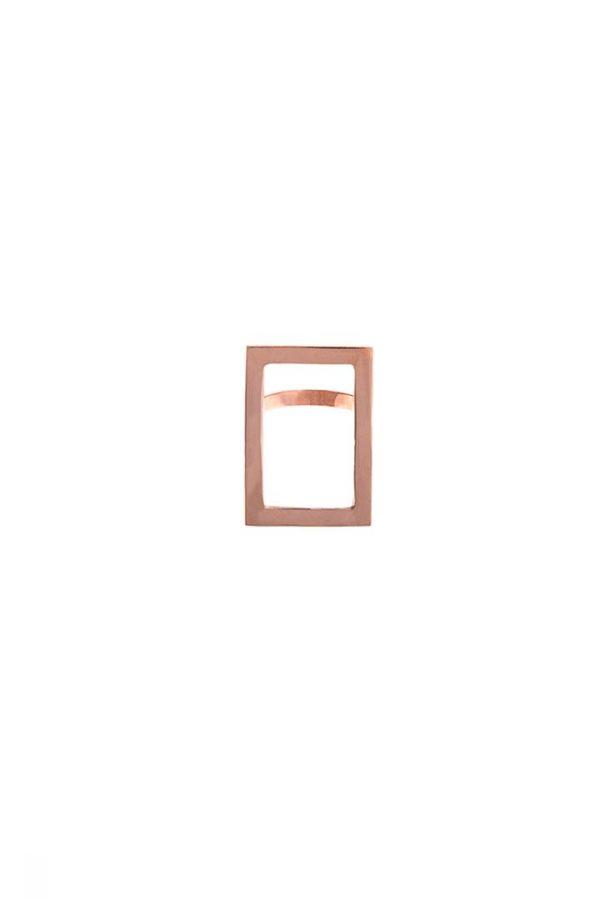 Anel Retrato Ouro Rosé - Plume Acessórios