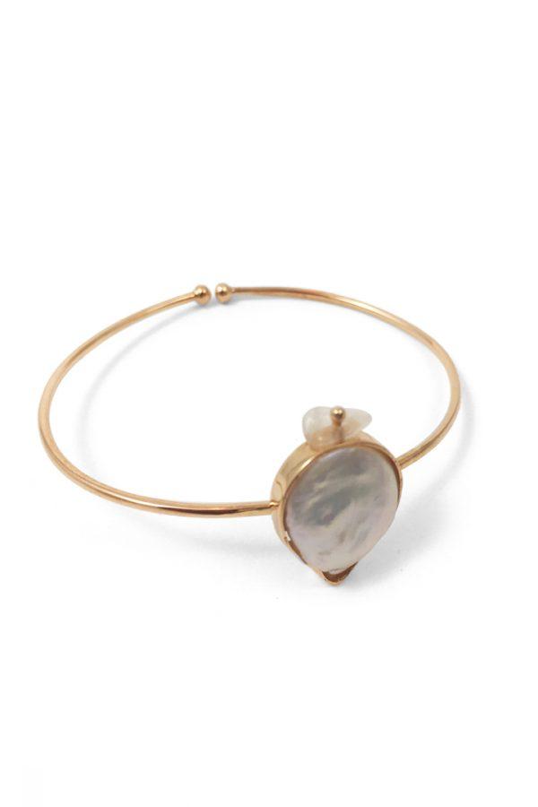 bracelete lux pérola barroca