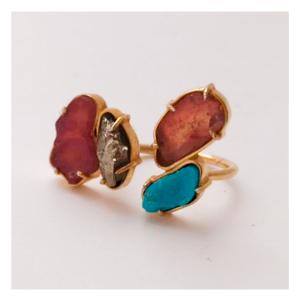 anel-turmalina-melancia-turquesa-pirita-plume-acessórios