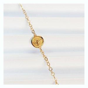 pulseira-espírito-santo-dourada-plume-acessórios